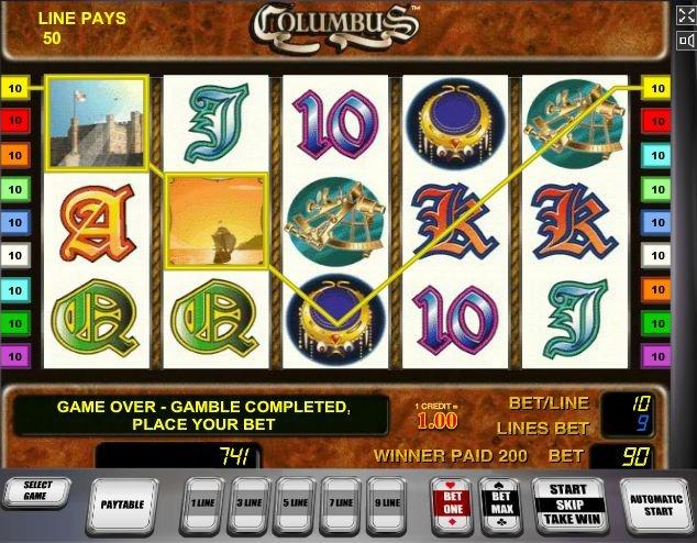 columbus игровой автомат