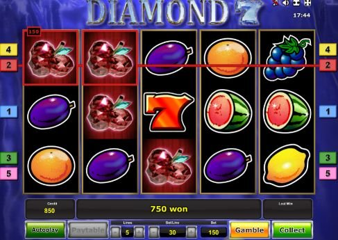 игровой онлайн слот diamond 7