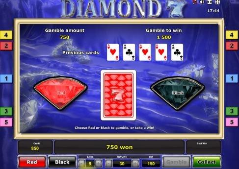 риск игра в слоте diamond 7