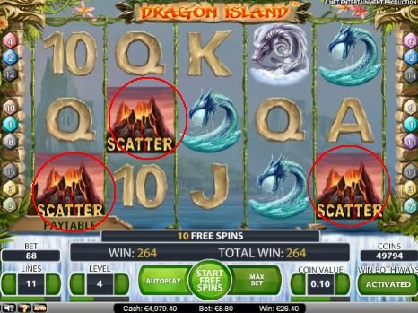 Bug scatter slot machine dragon