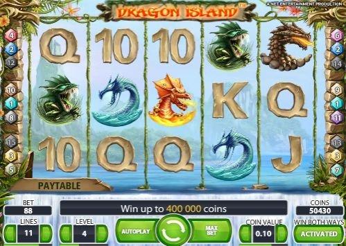 Игровой онлайн автомат Остров Драконов