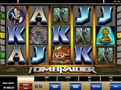 игровой автомат Tomb Raider от Microgaming
