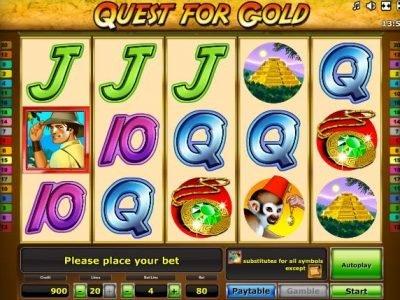 Игровой автомат Quest for Gold