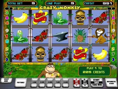 игровой автомат Сумасшедшая обезьянка