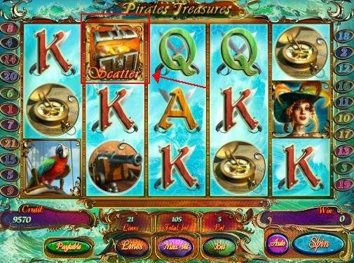 игровой онлайн слот Pirates Treasures
