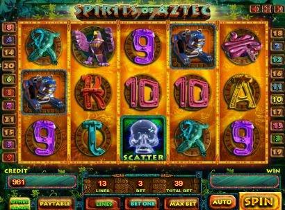 игровой автомат Дух ацтеков