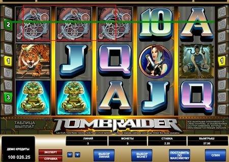 онлайн слот Tomb Raider