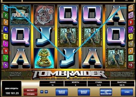игровой автомат Tomb Raider