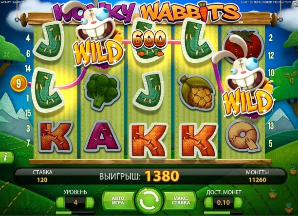 Wonky Wabbits онлайн слот